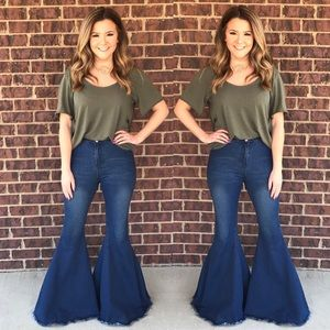 Extra flare bell bottom jeans - Flare pants